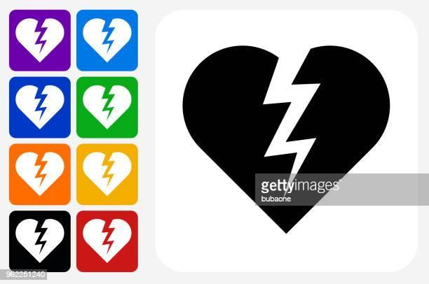 Heartbreak Icon Square Button Set