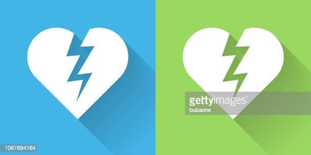 Heartbreak Icon with Long Shadow