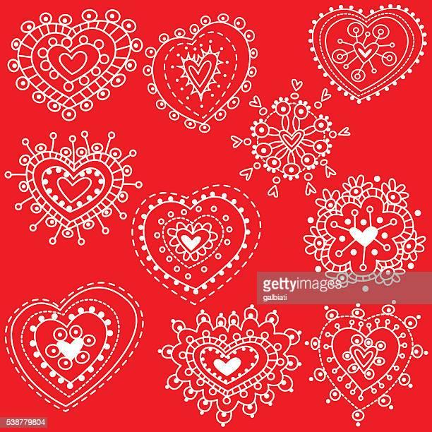 hearts 2 - medium group of objects stock illustrations, clip art, cartoons, & icons