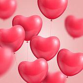 Hearts balloon realistic