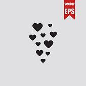 Hearts icon.Vector illustration.