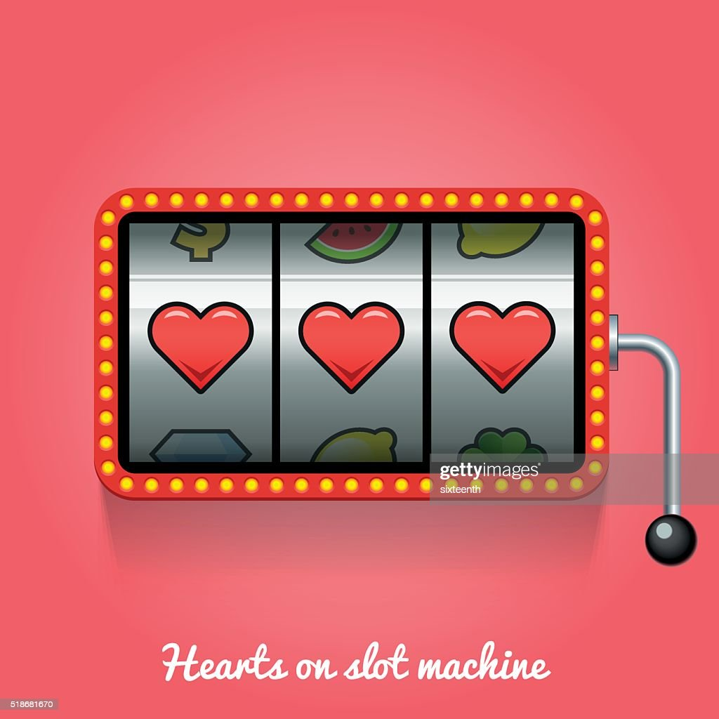 Hearts on slot machine