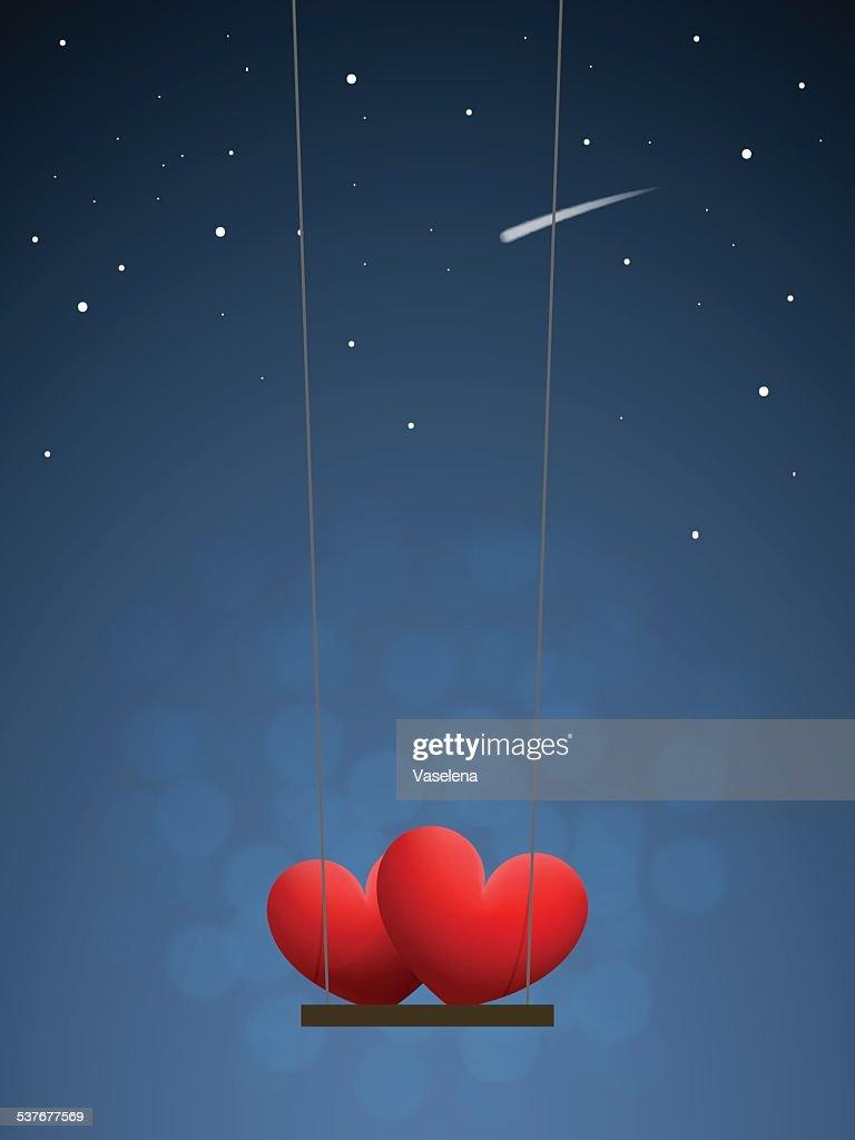 Hearts on swing