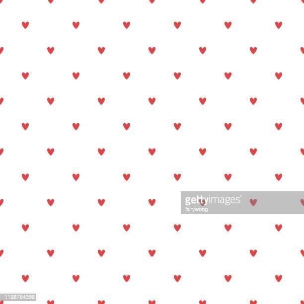 illustrazioni stock, clip art, cartoni animati e icone di tendenza di hearts seamless pattern - cuore