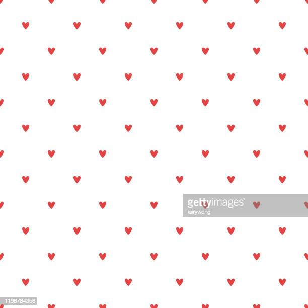hearts seamless pattern - heart shape stock illustrations