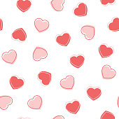 Hearts. Seamless vector pattern. Happy Valentine's Day