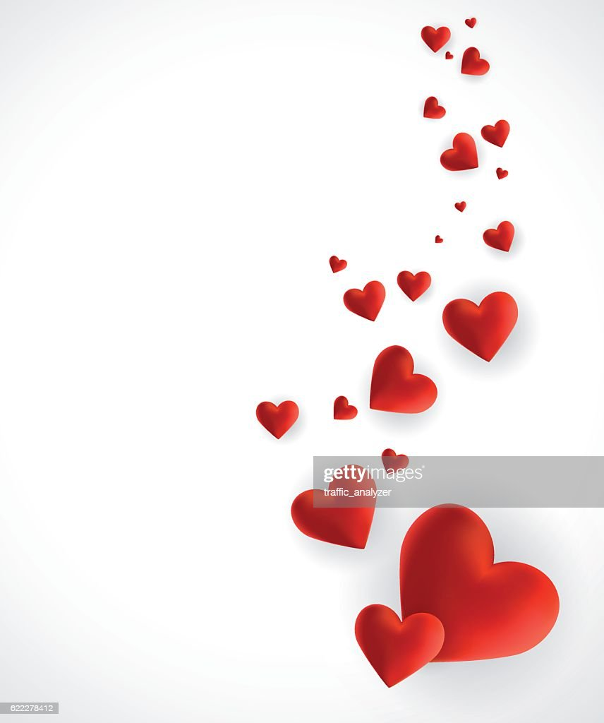 Hearts - Valentine's Day background : stock illustration