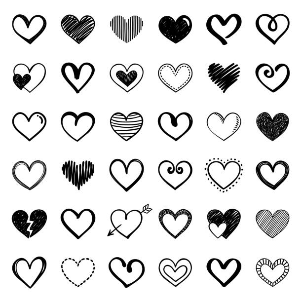 hearts - heart shape stock illustrations