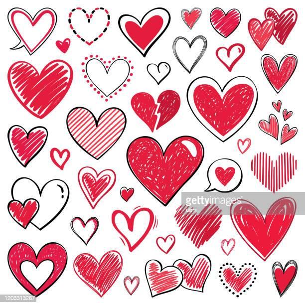 illustrazioni stock, clip art, cartoni animati e icone di tendenza di hearts - cuore