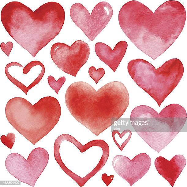 stockillustraties, clipart, cartoons en iconen met hearts - heart shape