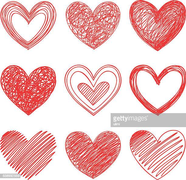 hearts - heart shape stock illustrations