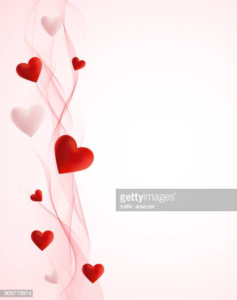 hearts - valentine card stock illustrations