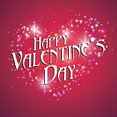 Heart-shaped light dots, Valentine's Day greeting cards available.