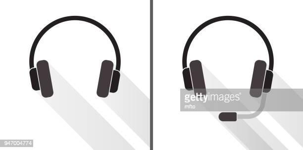 heasets set - headphones stock illustrations
