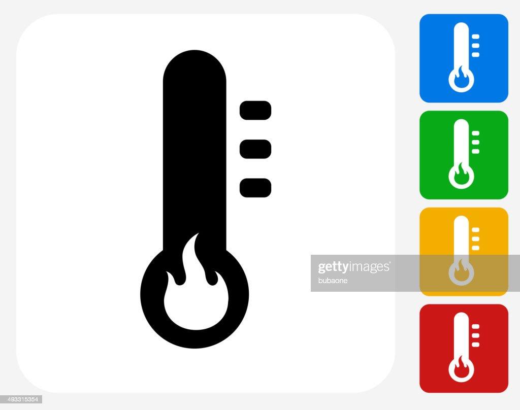Heat Icon Flat Graphic Design