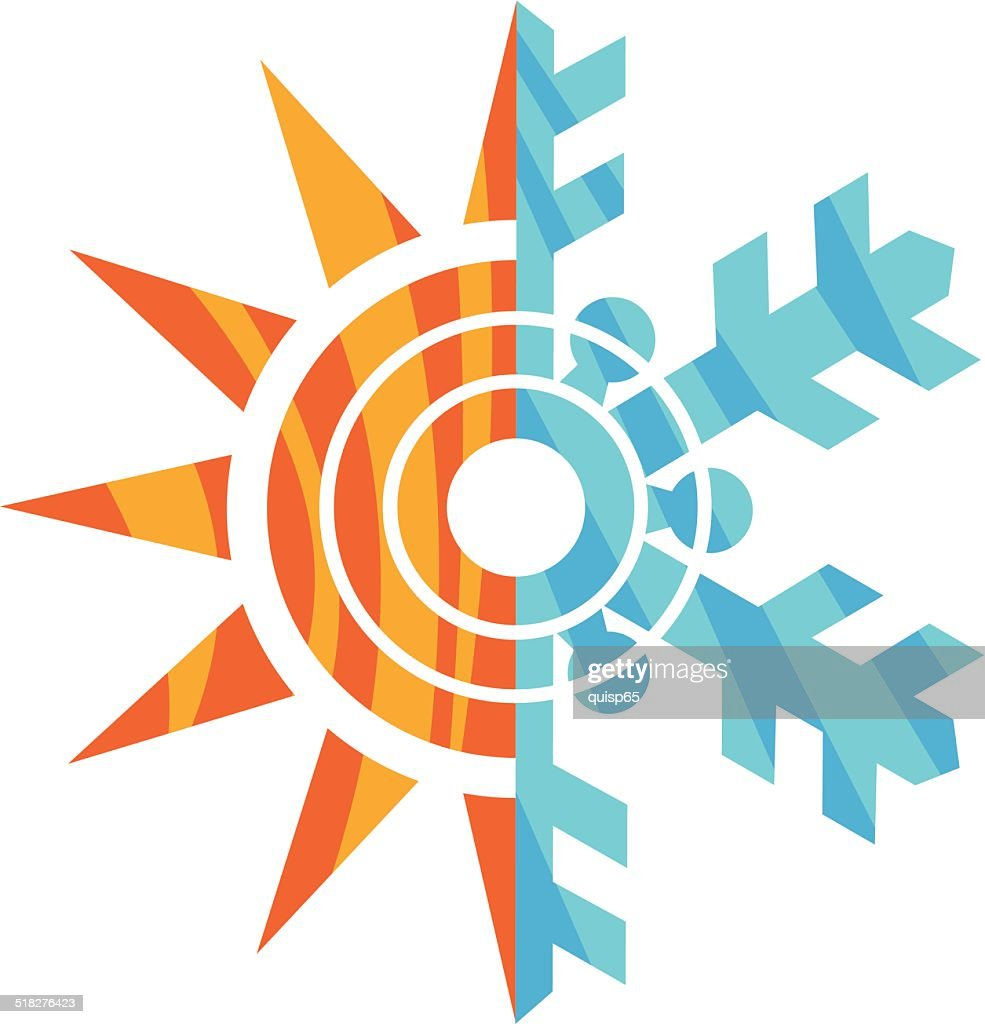 Heating And Cooling Icons High Res Vector Graphic Getty Images