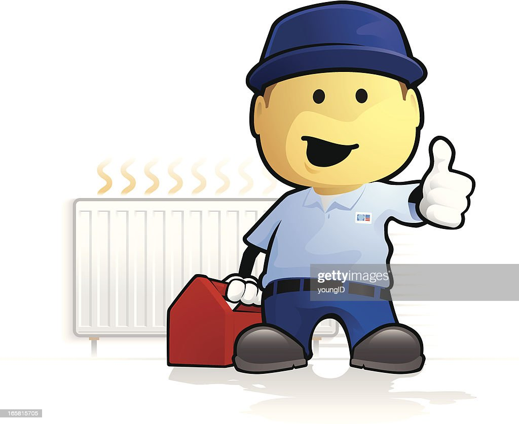 Heating Engineer - Radiator : stock illustration