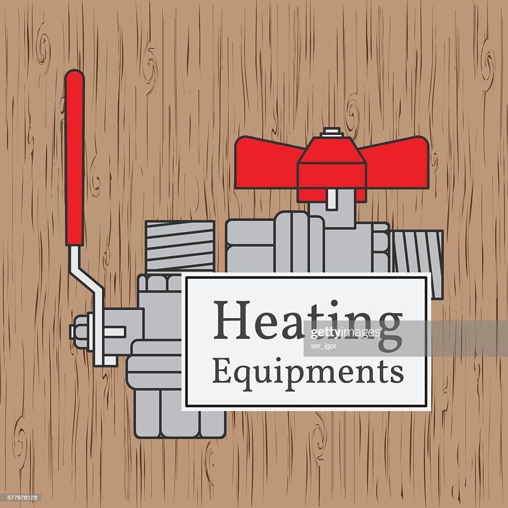 Heating equipments badge.