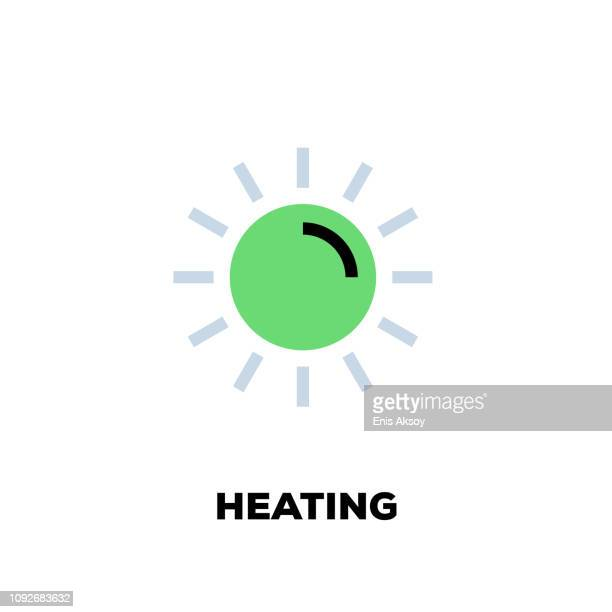 heating line icon - radiator heater stock illustrations, clip art, cartoons, & icons