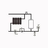 Heating scheme vector  icon.