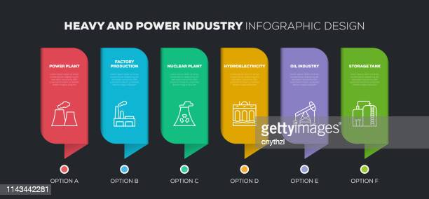 heavy and power industry related infographic design - petrochemical plant stock illustrations, clip art, cartoons, & icons