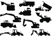 Heavy Equipment Silhouettes