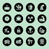 Heavy industry icons - Circle