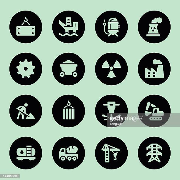 heavy industry icons - circle - water treatment stock illustrations, clip art, cartoons, & icons