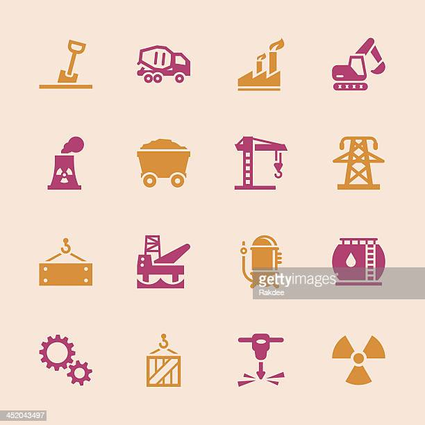 heavy industry icons - color series - water treatment stock illustrations, clip art, cartoons, & icons
