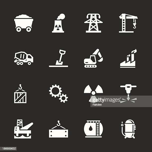 heavy industry icons - white series - water treatment stock illustrations, clip art, cartoons, & icons