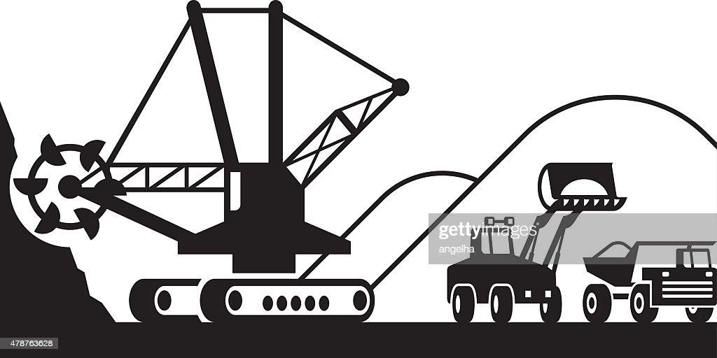 Heavy mining machinery
