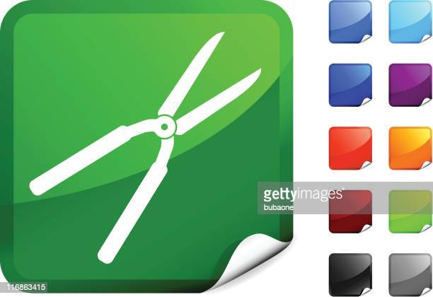 hedge clippers internet royalty free vector art - hedge clippers stock illustrations, clip art, cartoons, & icons