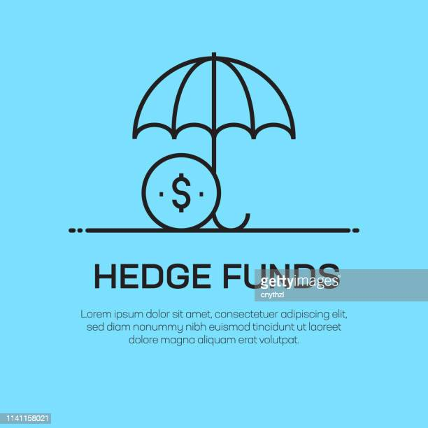 Hedge Funds Vector Line Icon - Simple Thin Line Icon, Premium Quality Design Element