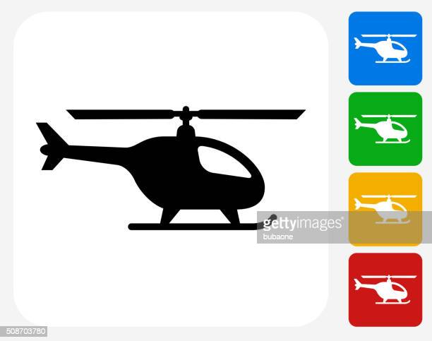 helicopter icon flat graphic design - helicopter stock illustrations