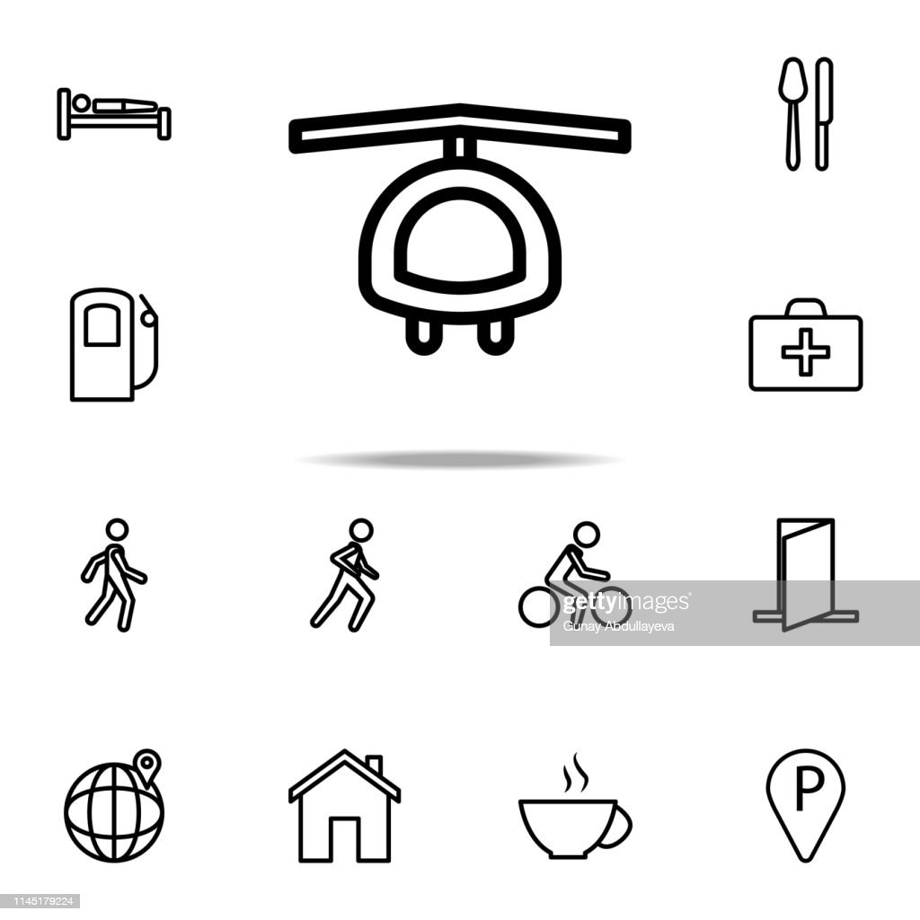 helicopter icon. Navigation icons universal set for web and mobile