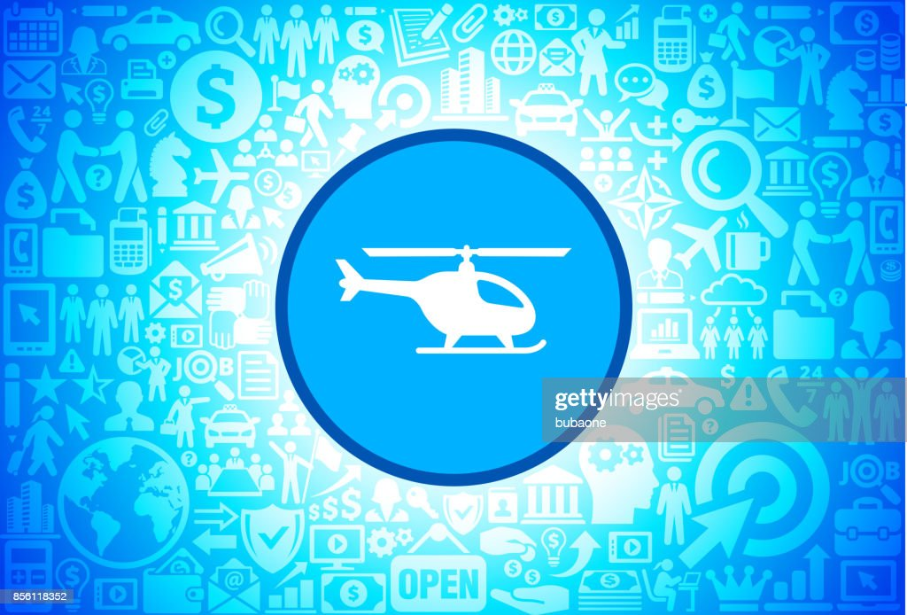 Helicopter  Icon on Business and Finance Vector Background