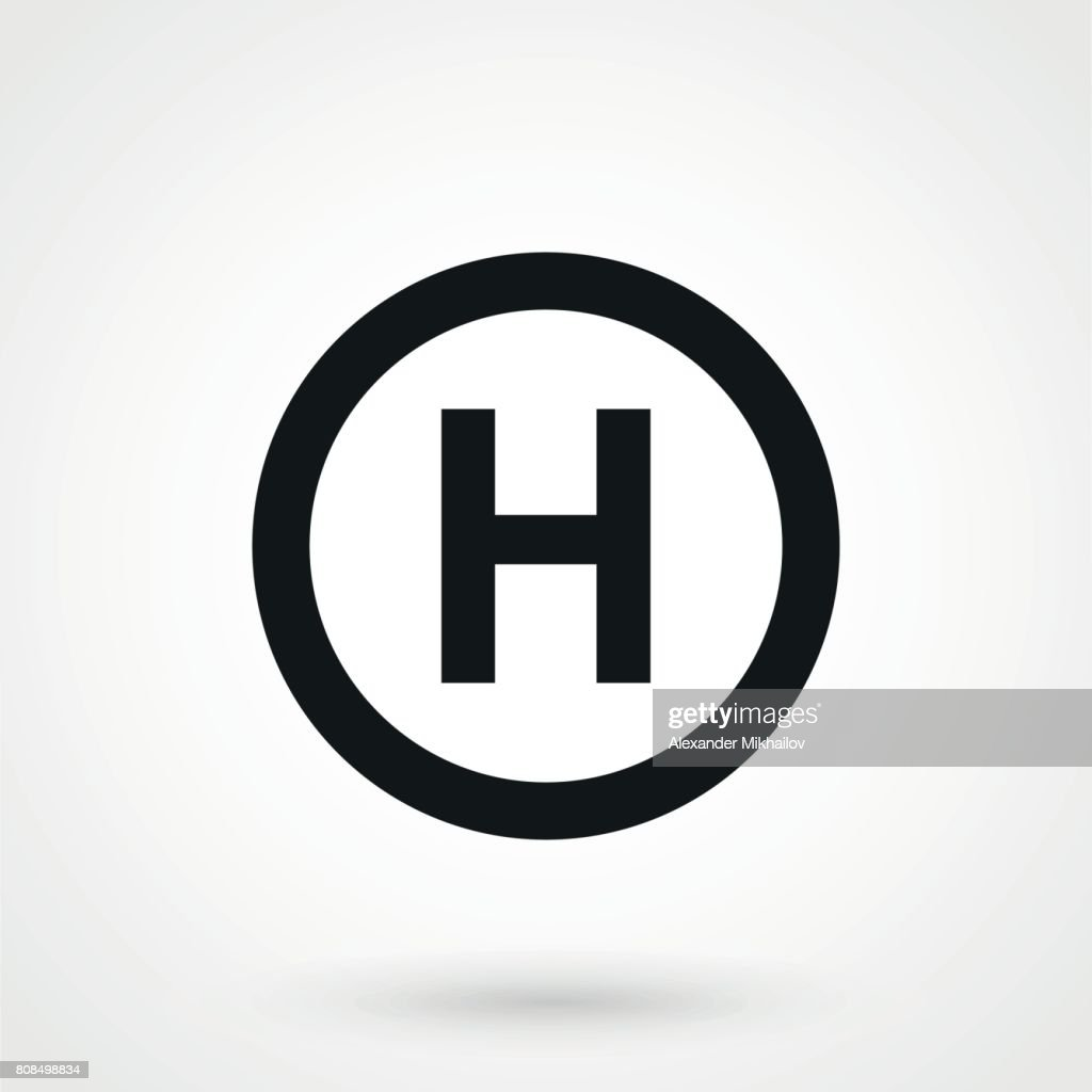 Helicopter landing pad icon