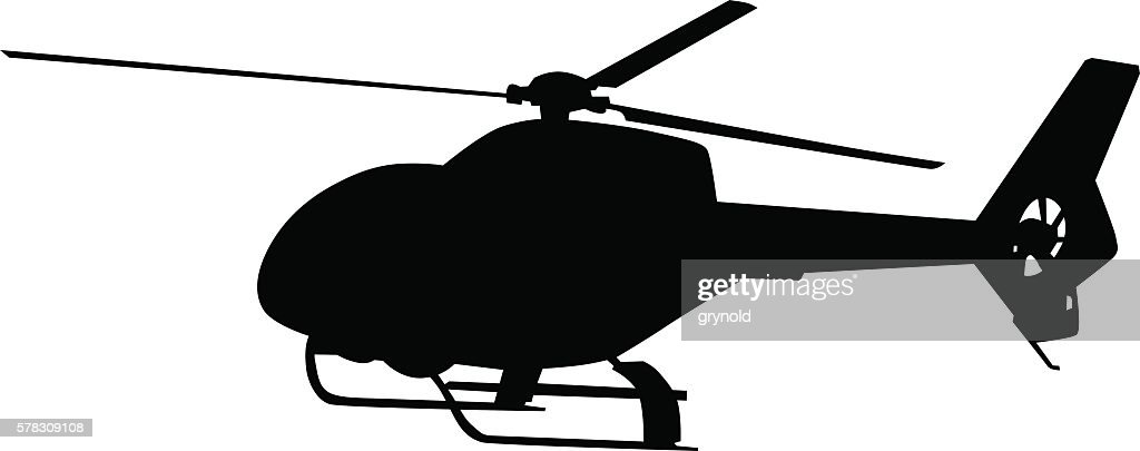 Helicopter on white