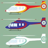 Helicopter, set of helicopters