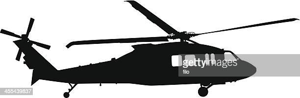 helicopter silhouette - us navy stock illustrations, clip art, cartoons, & icons