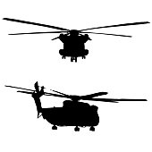 CH52 helicopter silhouette