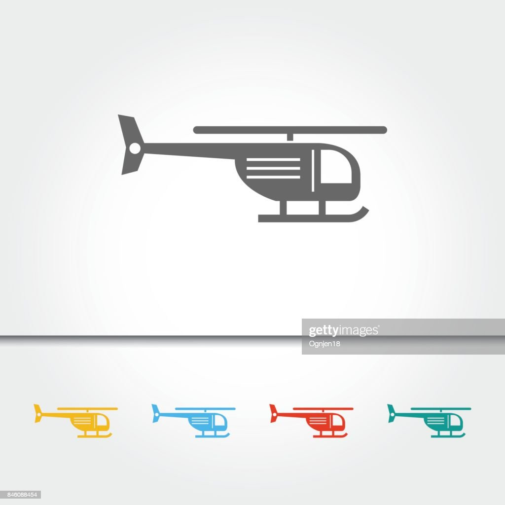 Helicopter Single Icon Vector Illustration
