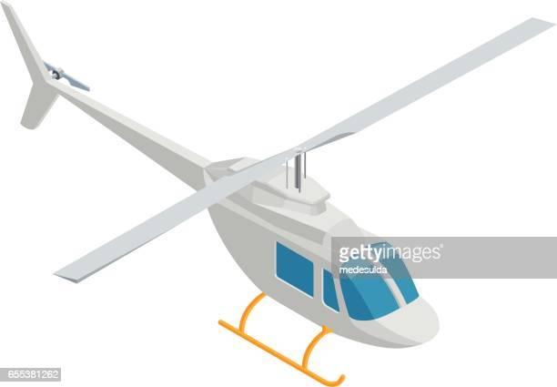 stockillustraties, clipart, cartoons en iconen met helikopter - helikopter