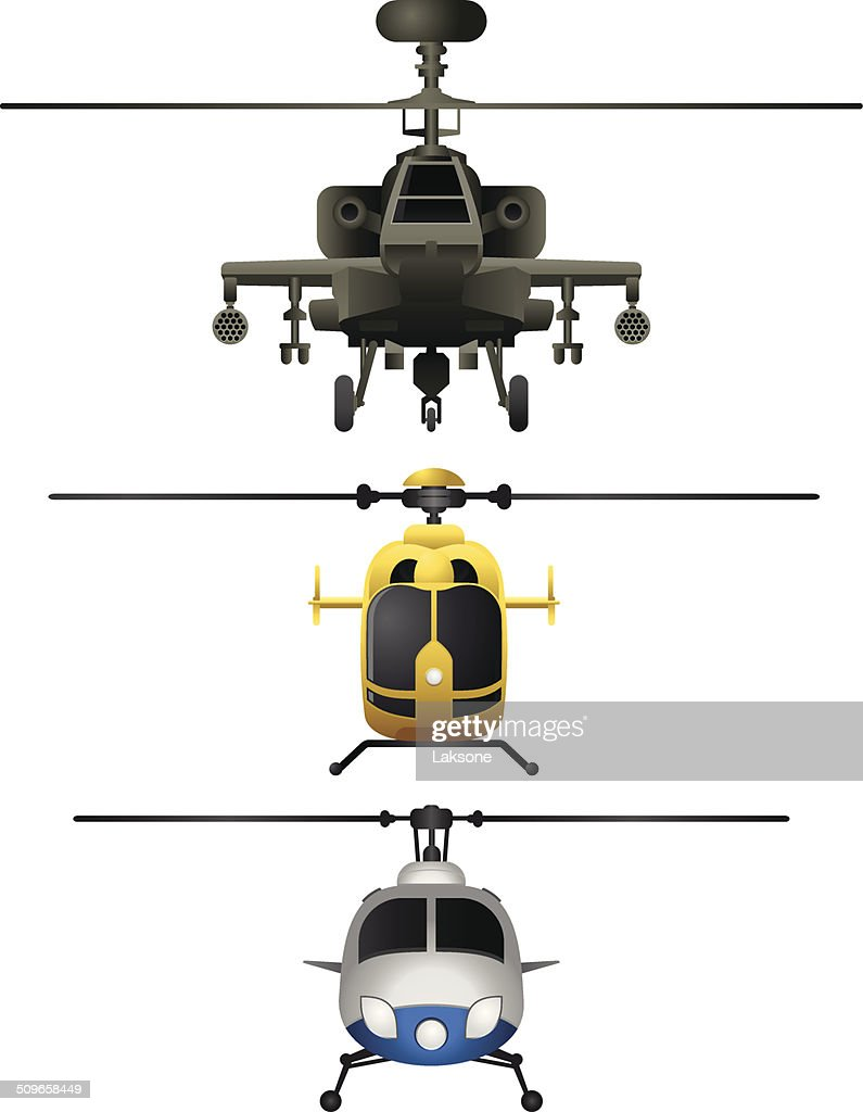 Helicopters frontviews