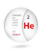 Helium icon in badge style