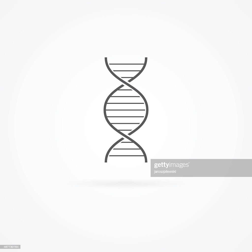 DNA helix icon isolated on white.