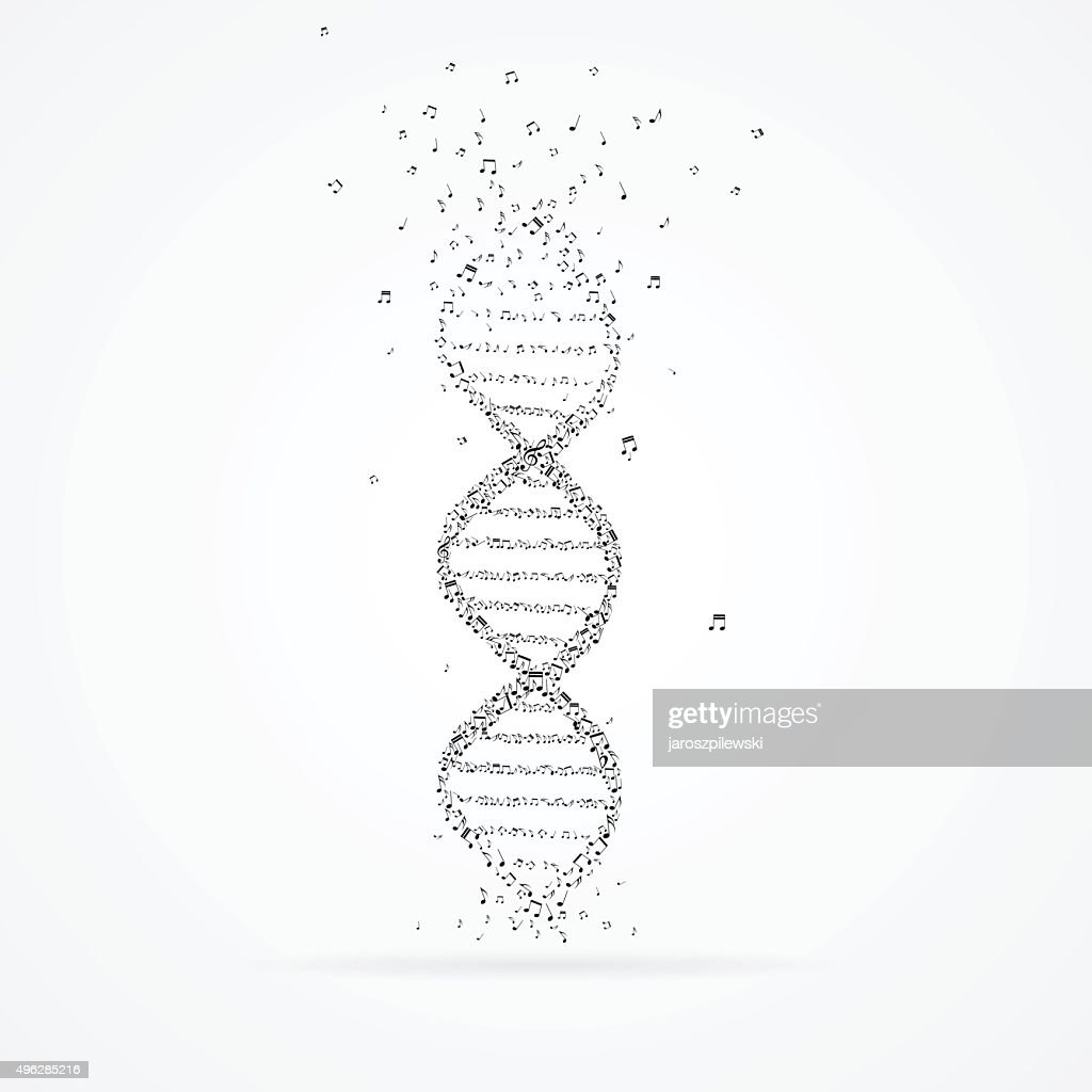DNA helix made from tunes.