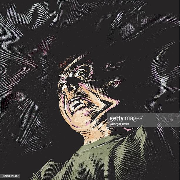 ilustraciones, imágenes clip art, dibujos animados e iconos de stock de demonio infernal - vampiro