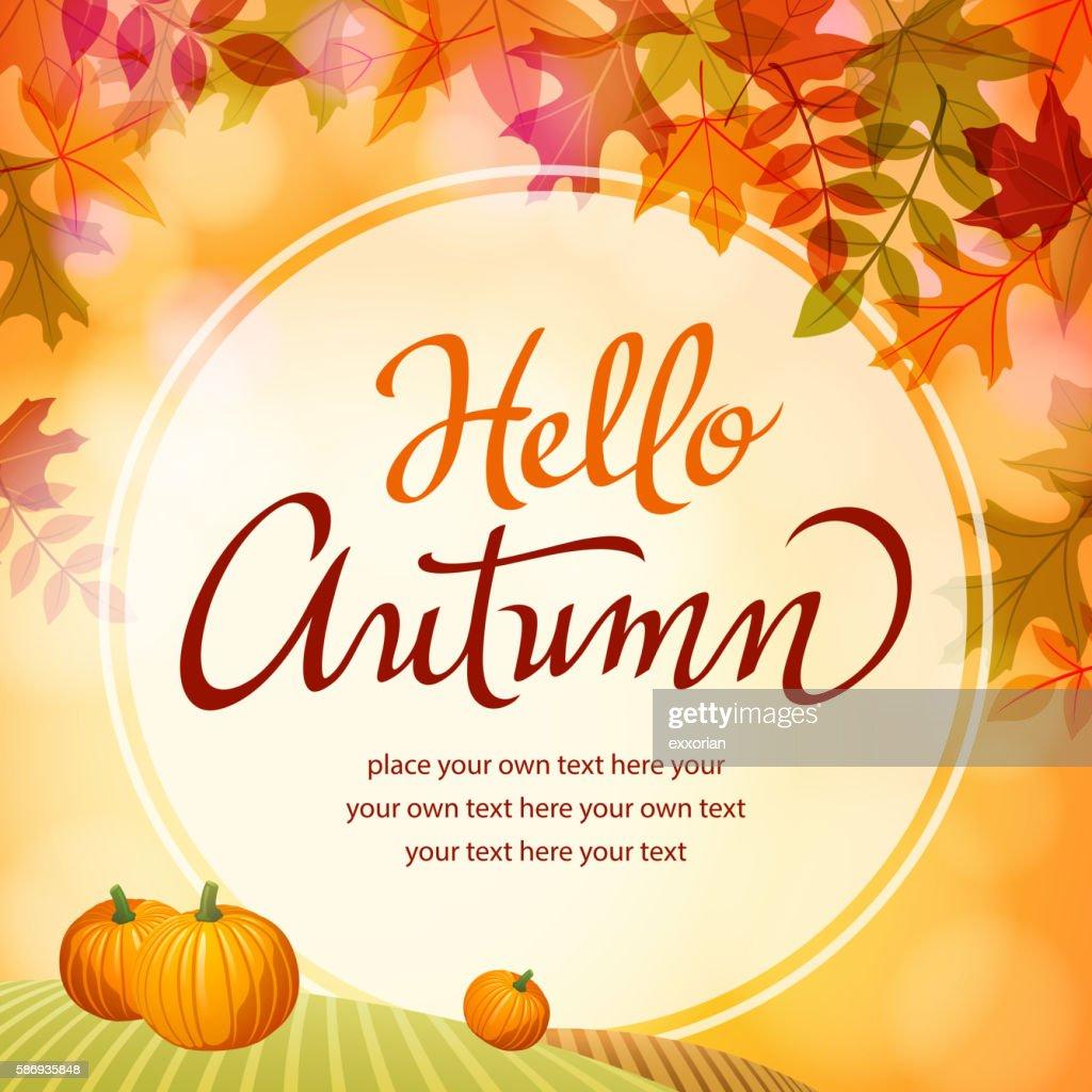 Hello Autumn with Pumpkins