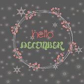 Hello december card